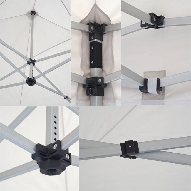 tentastic alu faltpavillon 3x3 m wei. Black Bedroom Furniture Sets. Home Design Ideas